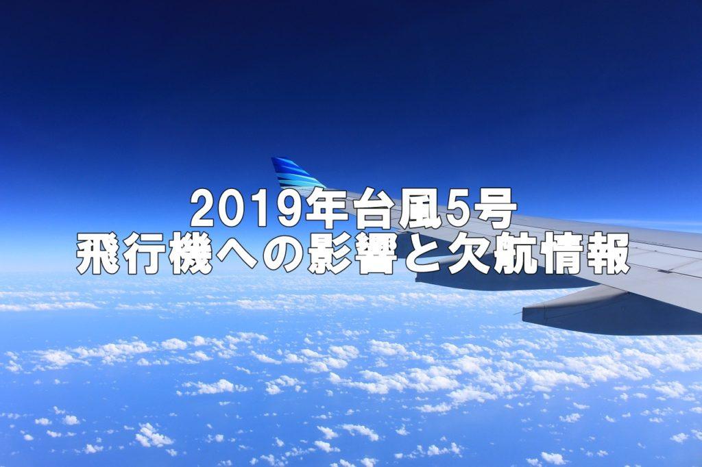 台風5号飛行機