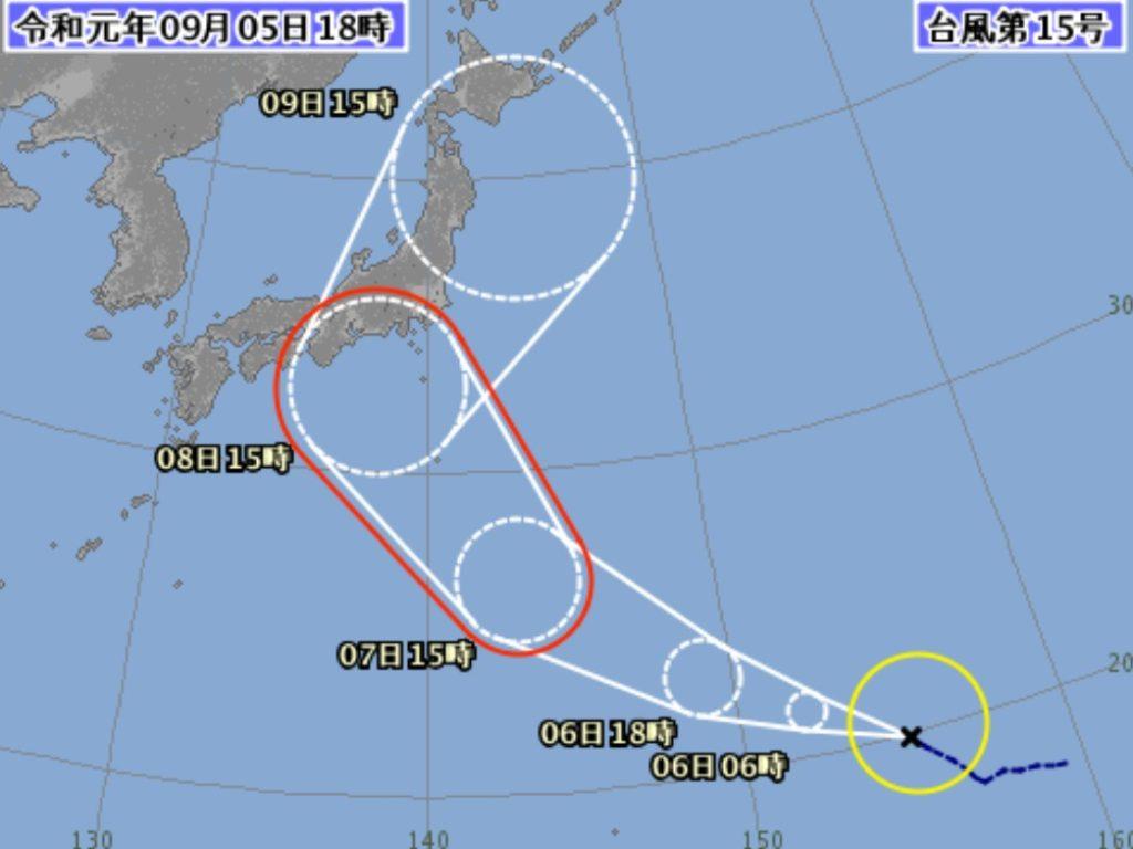 台風15号2019