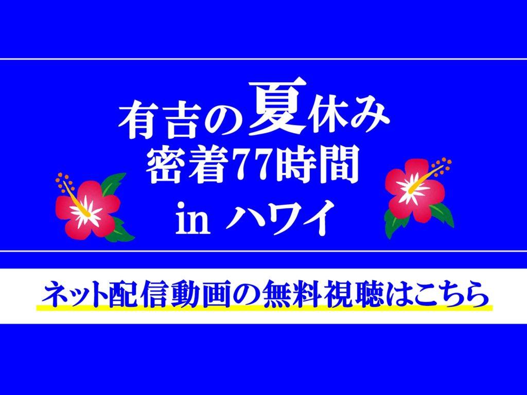 有吉の夏休みネット配信動画